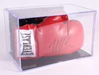 Mike Tyson Signed Everlast Boxing Glove with Display Case (PSA COA)
