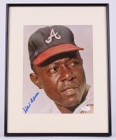 Hank Aaron Signed Braves 11x14 Custom Framed Photo (JSA COA)