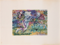 """LeRoy Neiman 20"""" x 15"""" Lithograph Personally Owned by Ken Stabler (Stabler LOA)"""