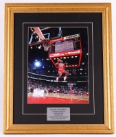 Michael Jordan Chicago Bulls 19x23 Custom Framed Photo Display
