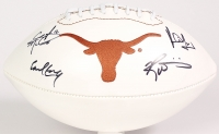 Multi-Signed Texas Longhorns Logo Football Signed by (4) with Earl Campbell, Ricky Williams, Vince Young & Colt McCoy (JSA COA)