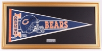 Walter Payton & Gale Sayers Signed Bears 17x35 Custom Framed Pennant Display (PSA LOA)