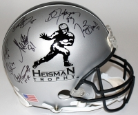 Multi-Signed Heisman Trophy Full-Size Authentic Pro-Line Helmet with (21) Signatures and Heisman Year Inscriptions (JSA COA & Player Holograms)