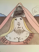 """Salvador Dali Signed """"Don Quichotte de la Mancha Suite: Lady Dulcinea"""" 16x17 LE 1981 Etching & Aquatint on Arches Paper #182/300"""