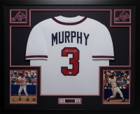 Dale Murphy Signed Braves 35x43 Custom Framed Jersey (MLB)