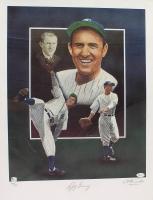 Lefty Gomez Signed Yankees LE 18x24 Lithograph (JSA COA & Global Authentic Hologram)