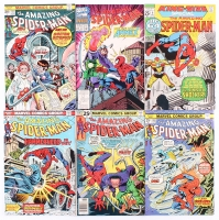 """Lot of (6) Vintage """"The Amazing Spider-Man"""" Marvel Comic Books Includes 1971 #8, 1974 #130, #131, 1975 #143, 1976 #159 1993 #27"""