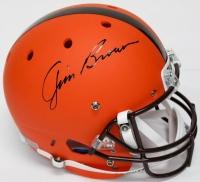 Jim Brown Signed Browns Custom Matte Full-Size Helmet (JSA COA & Fanatics Hologram)