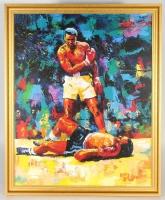 """LeRoy Neiman """"Muhammad Ali"""" 27x37 Custom Framed Giclee on Canvas"""