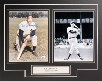 Joe DiMaggio Signed Yankees 16x20 Custom Matted Photo Display (JSA LOA)
