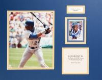 Ken Griffey Jr. Signed Mariners 14x18 Custom Matted Photo Display (JSA COA)