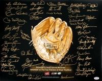 Gold Glove Award 16x20 Photo Signed by (45) Winners with Gary Carter, Brooks Robinson, Ozzie Smith, Dave Winfield, Steve Carlton, Luis Aparicio, Andre Dawson (PSA LOA)