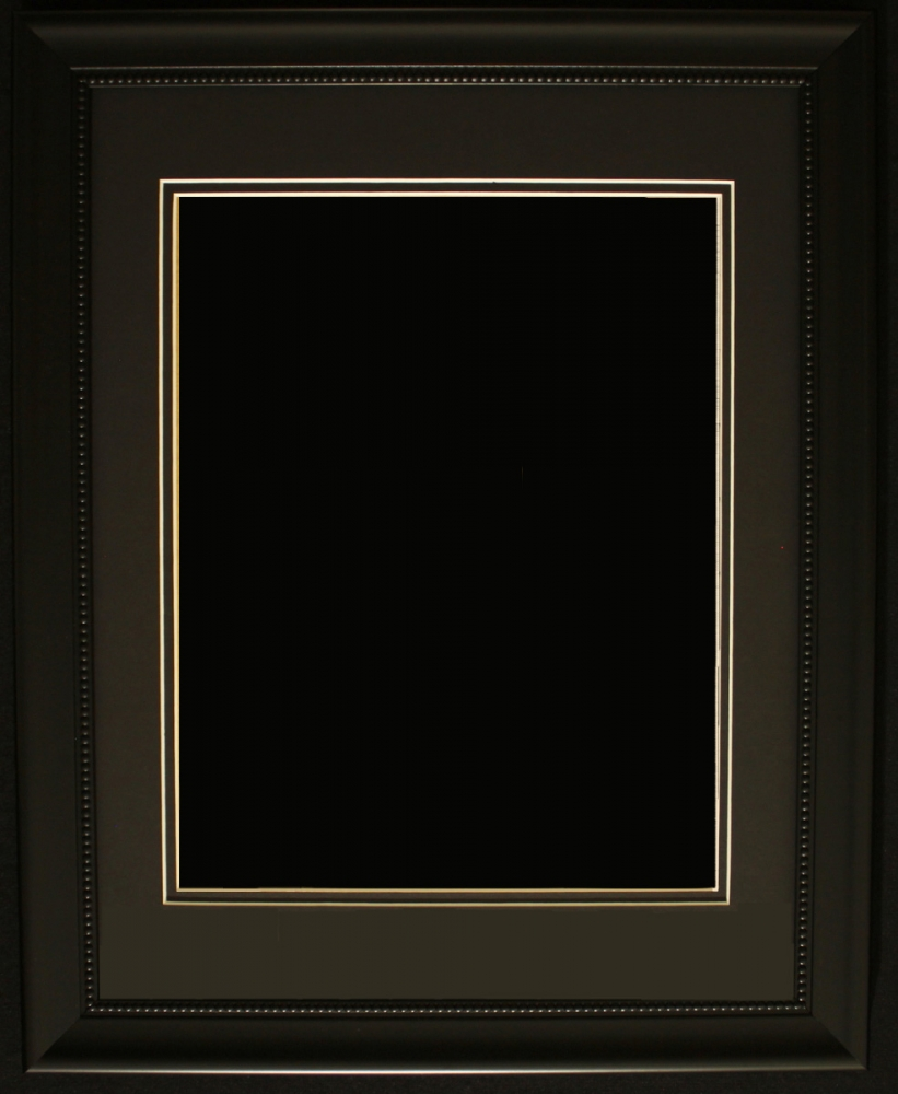 ... Black Frame with Black Double Matting (Overall Dimensions 23u0026quot; x 27